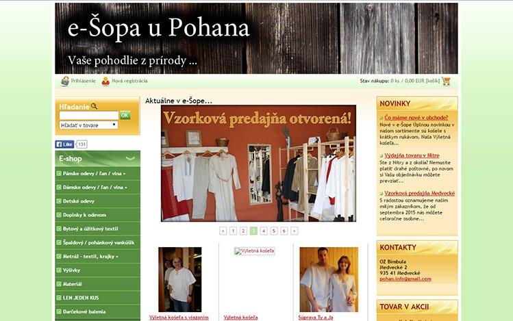 Grafika webovej stránky pred redizajnom